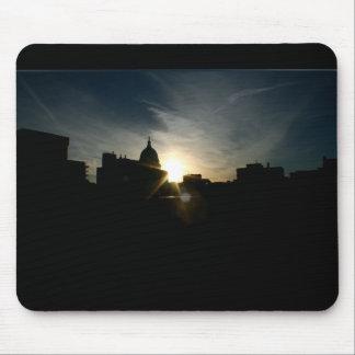 Salida del sol Mousepad del capitolio Alfombrillas De Raton