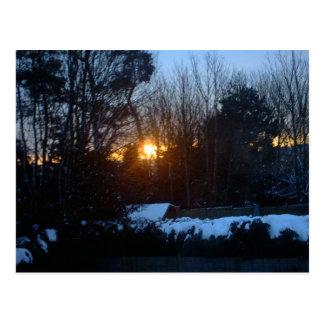 Salida del sol Nevado Tarjetas Postales