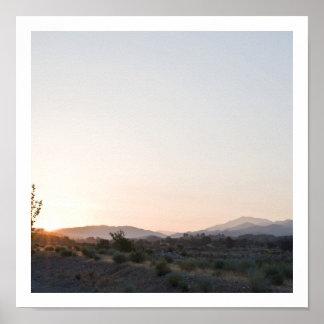 Salida del sol occidental póster