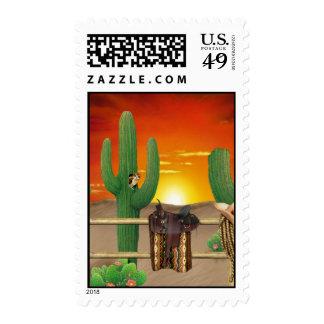 Salida del sol occidental sellos postales