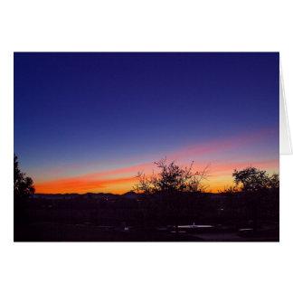 Salida del sol Ove la rosaleda en parque del balbo Tarjeton