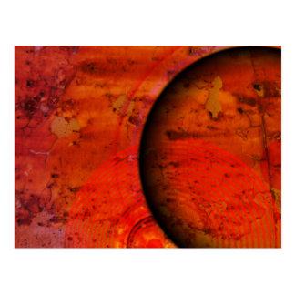 Salida del sol oxidada postal
