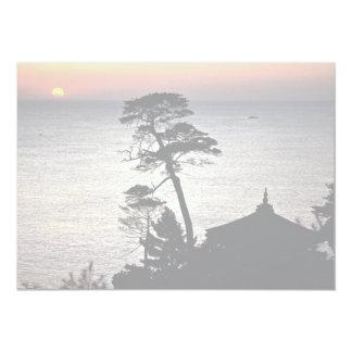 """Salida del sol, pabellón de Uisangdae, Naksansa Invitación 5"""" X 7"""""""