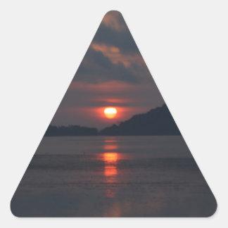 Salida del sol calcomanías de triangulos personalizadas