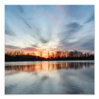 salida del sol perfecta impresiones fotográficas