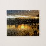 Salida del sol por el Riverbank Puzzle Con Fotos