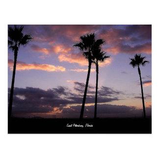 Salida del sol, postal de St Petersburg, la Florid