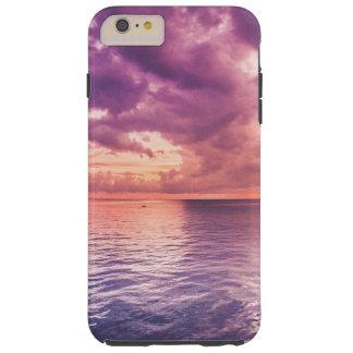 salida del sol+puesta del sol+paisaje+paisaje funda para iPhone 6 plus tough