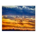 salida del sol-puesta del sol tarjeta postal