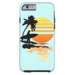 Salida del sol que practica surf funda de iPhone 6 tough
