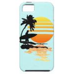 Salida del sol que practica surf iPhone 5 Case-Mate cobertura