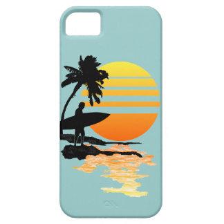 Salida del sol que practica surf funda para iPhone SE/5/5s
