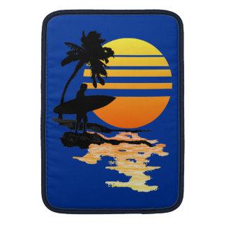 Salida del sol que practica surf fundas MacBook