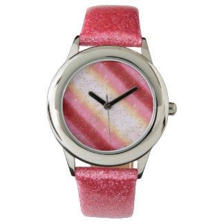 Salida del sol rosada de Falln Sakura Reloj De Mano