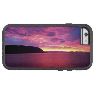 Salida del sol rosada funda para  iPhone 6 tough xtreme