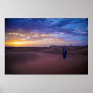 Salida del sol sahariana póster