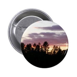 salida del sol septentrional de Michigan Pin Redondo De 2 Pulgadas