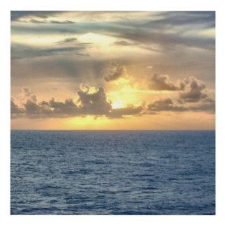 Salida del sol serena en el mar cuadro