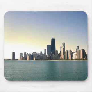 Salida del sol sobre Chicago Tapete De Raton