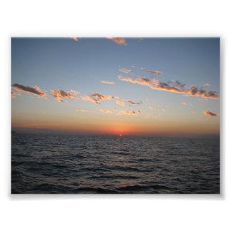 Salida del sol sobre el canal de Catalina Impresiones Fotográficas
