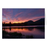 Salida del sol sobre el lago Sprague, Colorado Tarjeta