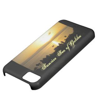 Salida del sol sobre el mar del caso de Galilea Funda Para iPhone 5C