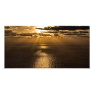 Salida del sol sobre el Océano Atlántico Tarjeta Personal
