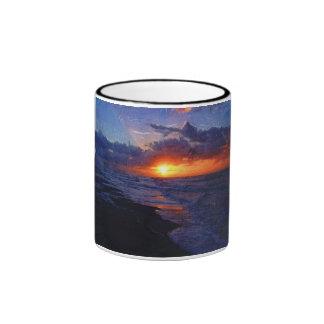 Salida del sol sobre el Océano Atlántico Taza De Café