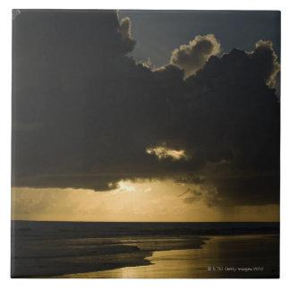 Salida del sol sobre el Océano Índico, Vilanculos, Azulejo Cuadrado Grande