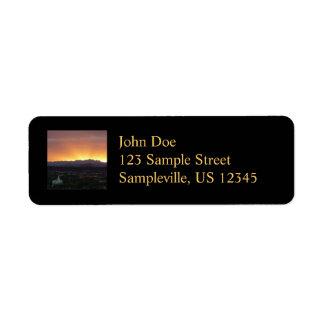 Salida del sol sobre el paisaje de San Jorge Utah Etiqueta De Remite