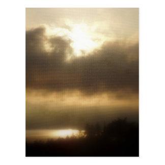 Salida del sol sobre el río Columbia #1 Tarjetas Postales