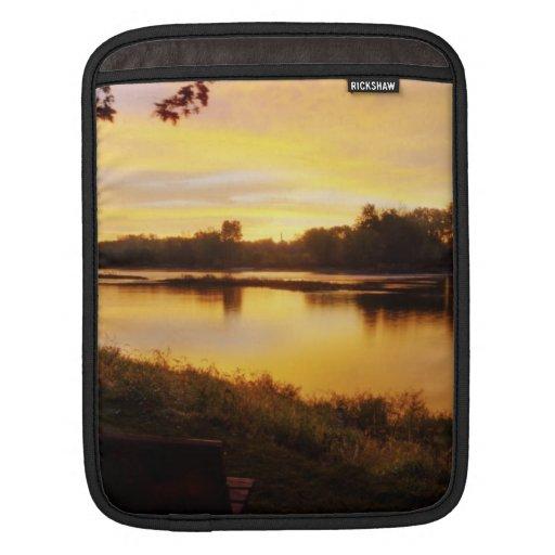Salida del sol sobre el río de Maumme Manga De iPad
