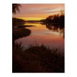 Salida del sol sobre el río de Maumme Postal