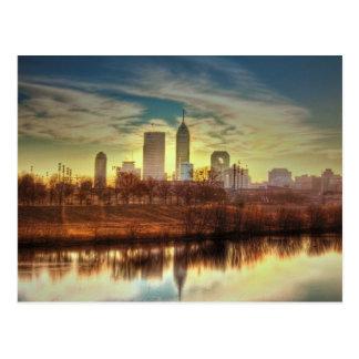 Salida del sol sobre Indianapolis, ADENTRO Postales