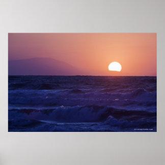 Salida del sol sobre la bahía de Málaga Impresiones