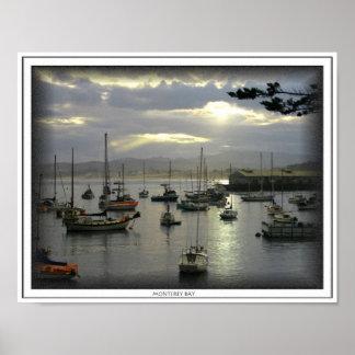 Salida del sol sobre la impresión de la bahía de M Poster
