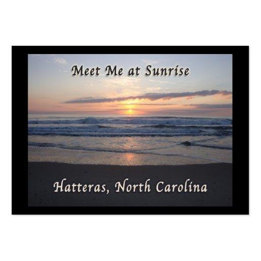 Salida del sol sobre la isla de Hatteras, Carolina Tarjeta De Negocio