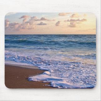 Salida del sol sobre la playa de la Florida incli Tapetes De Raton