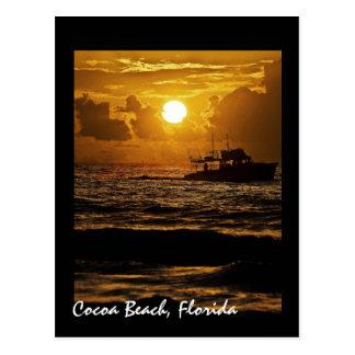 Salida del sol sobre la playa del cacao, la Florid Tarjetas Postales