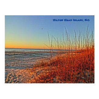 ¡Salida del sol sobre la resaca! Hilton Head Tarjetas Postales