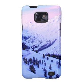 Salida del sol sobre las montañas Nevado Samsung Galaxy S2 Fundas
