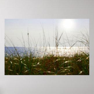 Salida del sol sobre Océano Atlántico Póster