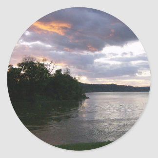 Salida del sol sobre Ohio Pegatina Redonda
