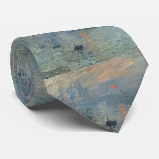 Salida del sol Soleil Levant de la impresión de Corbata Personalizada