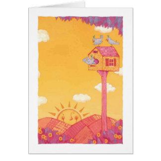 Salida del sol tarjeta de felicitación
