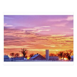 Salida del sol temprana de la mañana de Colorado d Tarjeta Postal