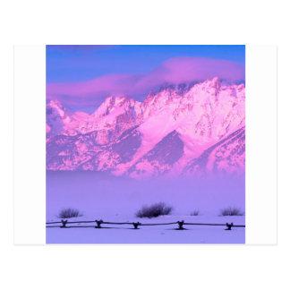 Salida del sol Teton magnífico Wyoming del Postal