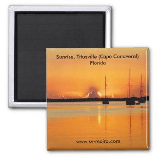 Salida del sol, Titusville (Cabo Cañaveral) la Flo Imán Cuadrado