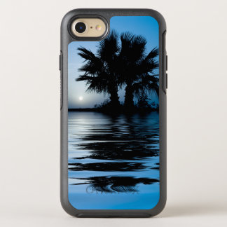 Salida del sol tropical azul funda OtterBox symmetry para iPhone 7