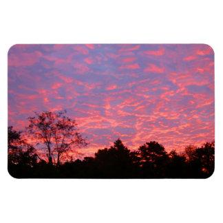 Salida del sol vibrante rosada imán